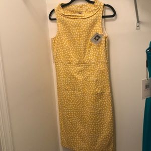 Brand new Anne Klein yellow and white summer dress